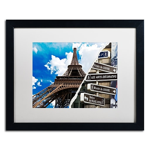 """Trademark Fine Art ''Afternoon in Paris'' by Philippe Hugonnard 16"""" x 20"""" White Matted Black Frame (PH0102-B1620MF)"""