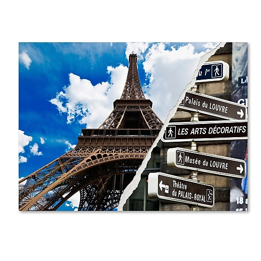 "Trademark Fine Art ''Afternoon in Paris'' by Philippe Hugonnard 24"" x 32"" Canvas Art (PH0102-C2432GG)"
