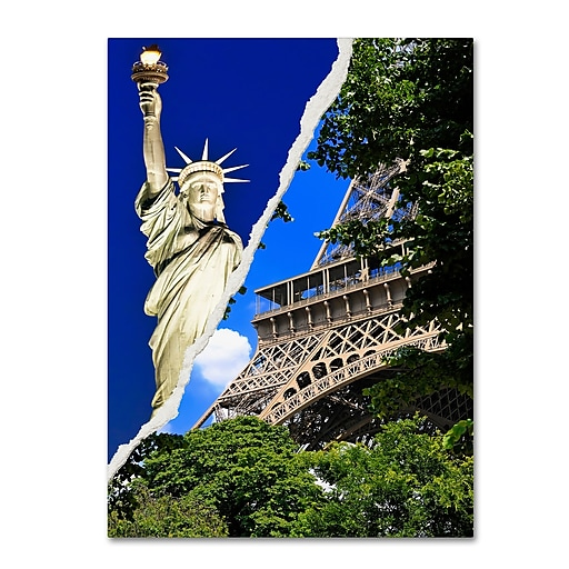 "Trademark Fine Art ''Eiffel Thank You!'' by Philippe Hugonnard 24"" x 32"" Canvas Art (PH0103-C2432GG)"