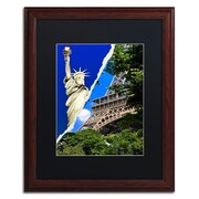 "Trademark Fine Art ''Eiffel Thank You!'' by Philippe Hugonnard 16"" x 20"" Black Matted Wood Frame (PH0103-W1620BMF)"