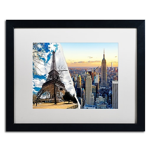 "Trademark Fine Art ''Wonderful Architectures'' by Philippe Hugonnard 16"" x 20"" White Matted Black Frame (PH0105-B1620MF)"