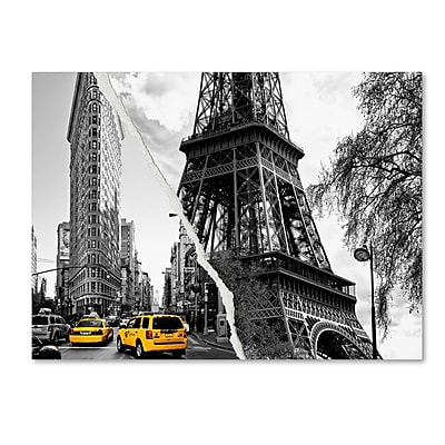 Trademark Fine Art ''Paris New York'' by Philippe Hugonnard 18