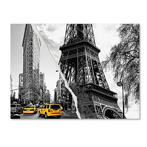 "Trademark Fine Art ''Paris New York'' by Philippe Hugonnard 35"" x 47"" Canvas Art (PH0106-C3547GG)"