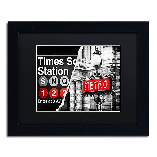 "Trademark Fine Art ''Metropolitain'' by Philippe Hugonnard 11"" x 14"" Black Matted Black Frame (PH0107-B1114BMF)"