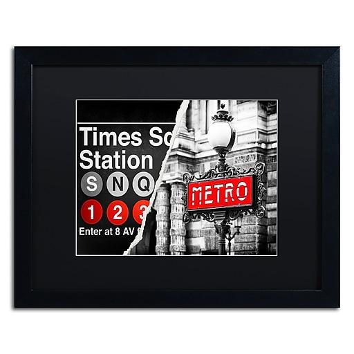 "Trademark Fine Art ''Metropolitain'' by Philippe Hugonnard 16"" x 20"" Black Matted Black Frame (PH0107-B1620BMF)"