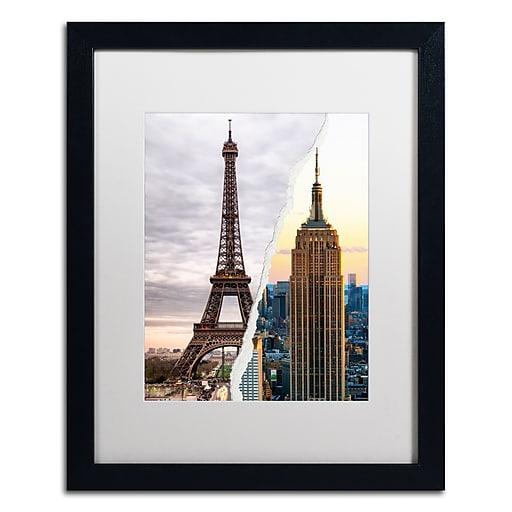 "Trademark Fine Art ''The Empire Eiffel'' by Philippe Hugonnard 16"" x 20"" White Matted Black Frame (PH0108-B1620MF)"