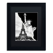 "Trademark Fine Art ''Architectural Grandeur'' by Philippe Hugonnard 11"" x 14"" Black Matted Black Frame (PH0109-B1114BMF)"