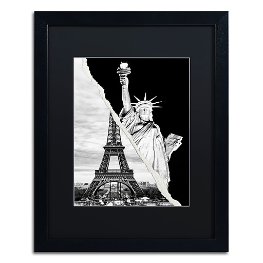 "Trademark Fine Art ''Architectural Grandeur'' by Philippe Hugonnard 16"" x 20"" Black Matted Black Frame (PH0109-B1620BMF)"
