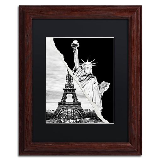 "Trademark Fine Art ''Architectural Grandeur'' by Philippe Hugonnard 11"" x 14"" Black Matted Wood Frame (PH0109-W1114BMF)"