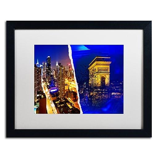 "Trademark Fine Art ''Cities at Night'' by Philippe Hugonnard 16"" x 20"" White Matted Black Frame (PH0110-B1620MF)"