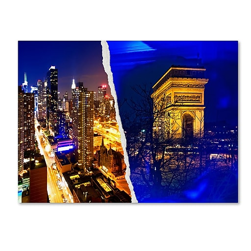 "Trademark Fine Art ''Cities at Night'' by Philippe Hugonnard 24"" x 32"" Canvas Art (PH0110-C2432GG)"