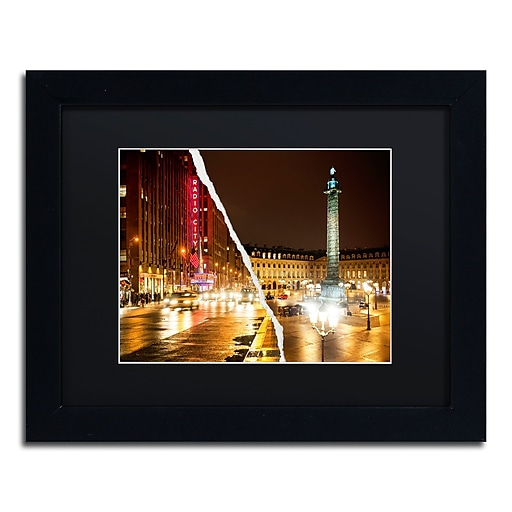 "Trademark Fine Art ''Colors Overnight'' by Philippe Hugonnard 11"" x 14"" Black Matted Black Frame (PH0111-B1114BMF)"