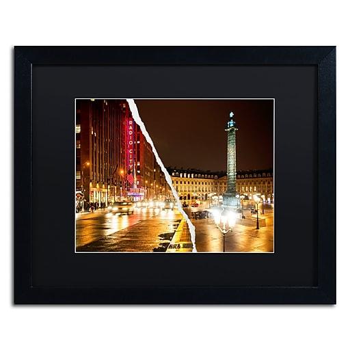 "Trademark Fine Art ''Colors Overnight'' by Philippe Hugonnard 16"" x 20"" Black Matted Black Frame (PH0111-B1620BMF)"