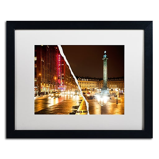 "Trademark Fine Art ''Colors Overnight'' by Philippe Hugonnard 16"" x 20"" White Matted Black Frame (PH0111-B1620MF)"