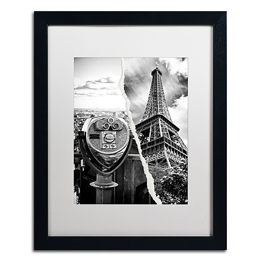 "Trademark Fine Art ''Looking Away'' by Philippe Hugonnard 16"" x 20"" White Matted Black Frame (PH0113-B1620MF)"