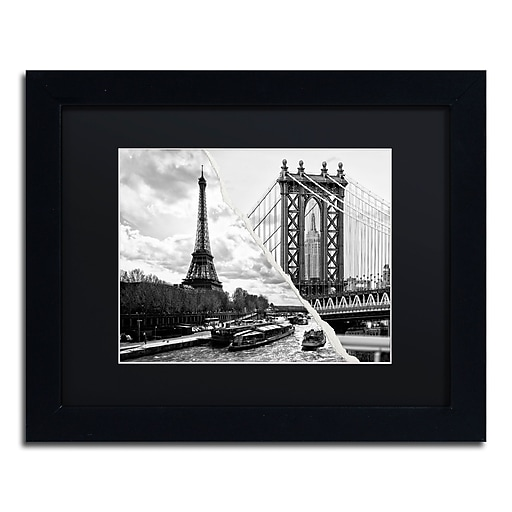 "Trademark Fine Art ''Crossing the River'' by Philippe Hugonnard 11"" x 14"" Black Matted Black Frame (PH0115-B1114BMF)"