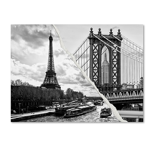 "Trademark Fine Art ''Crossing the River'' by Philippe Hugonnard 24"" x 32"" Canvas Art (PH0115-C2432GG)"
