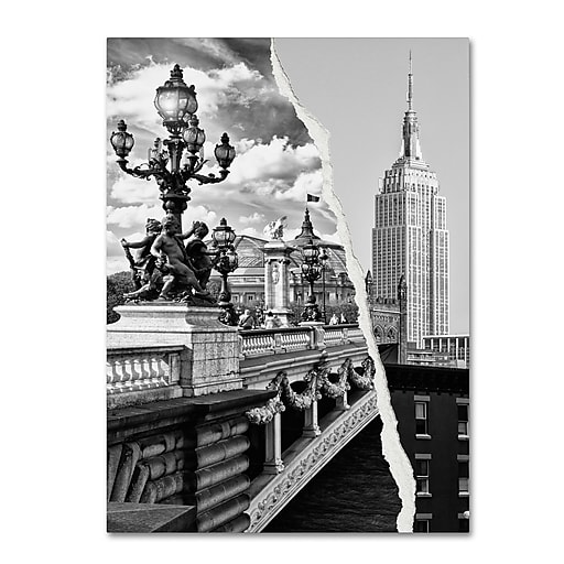 """Trademark Fine Art ''Live in Paris and New York'' by Philippe Hugonnard 18"""" x 24"""" Canvas Art (PH0117-C1824GG)"""