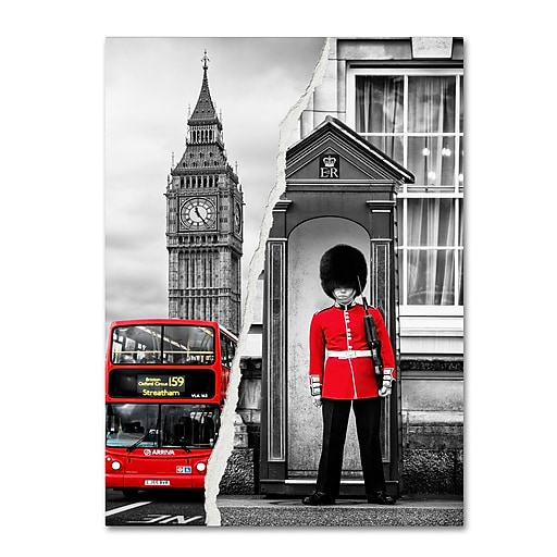 "Trademark Fine Art ''Look at London'' by Philippe Hugonnard 14"" x 19"" Canvas Art (PH0122-C1419GG)"