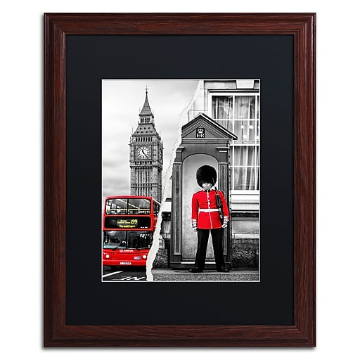 """Trademark Fine Art ''Look at London'' by Philippe Hugonnard 16"""" x 20"""" Black Matted Wood Frame (PH0122-W1620BMF)"""