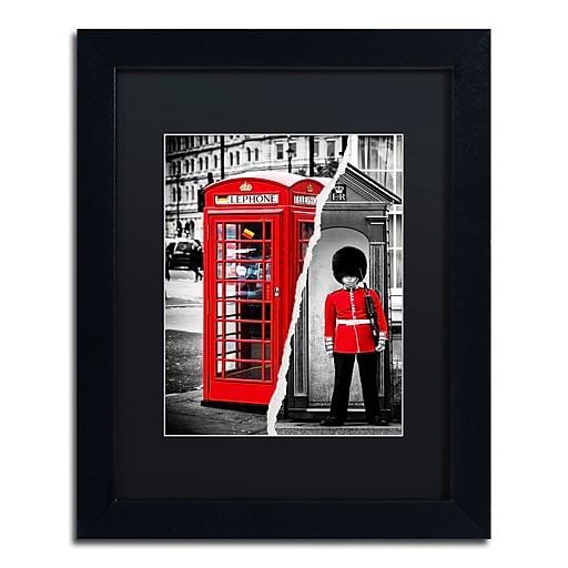 "Trademark Fine Art ''Red'' by Philippe Hugonnard 11"" x 14"" Black Matted Black Frame (PH0123-B1114BMF)"