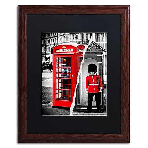 "Trademark Fine Art ''Red'' by Philippe Hugonnard 16"" x 20"" Black Matted Wood Frame (PH0123-W1620BMF)"
