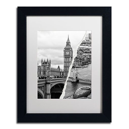 "Trademark Fine Art ''City of London'' by Philippe Hugonnard 11"" x 14"" White Matted Black Frame (PH0124-B1114MF)"