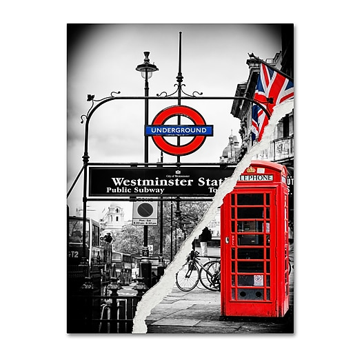 "Trademark Fine Art ''Westminster Station'' by Philippe Hugonnard 35"" x 47"" Canvas Art (PH0125-C3547GG)"