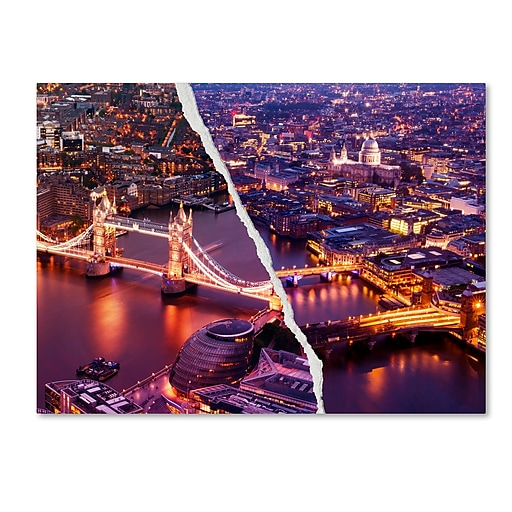 "Trademark Fine Art ''City Lights London'' by Philippe Hugonnard 35"" x 47"" Canvas Art (PH0127-C3547GG)"