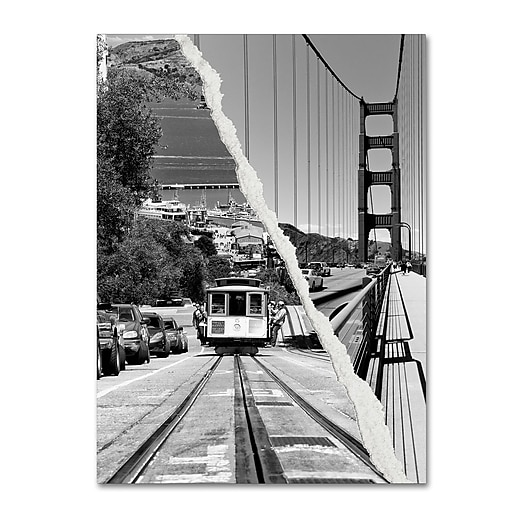 "Trademark Fine Art ''San Francisco Cable Car'' by Philippe Hugonnard 14"" x 19"" Canvas Art (PH0130-C1419GG)"