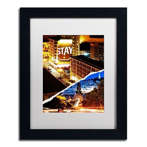 "Trademark Fine Art ''One night in San Francisco'' by Philippe Hugonnard 11"" x 14"" White Matted Black Frame (PH0132-B1114MF)"