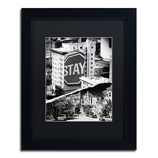 """Trademark Fine Art ''Staying in San Francisco'' by Philippe Hugonnard 11"""" x 14"""" Black Matted Black Frame (PH0133-B1114BMF)"""