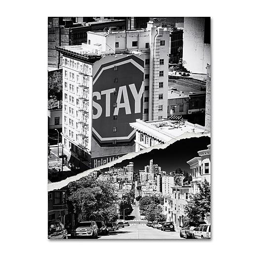 "Trademark Fine Art ''Staying in San Francisco'' by Philippe Hugonnard 18"" x 24"" Canvas Art (PH0133-C1824GG)"