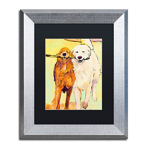 "Trademark Fine Art ''Stick With Me 1'' by Pat Saunders 11"" x 14"" Black Matted Silver Frame (PS016-S1114BMF)"