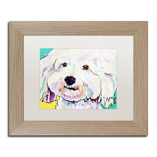 """Trademark Fine Art ''Buttons'' by Pat Saunders 11"""" x 14"""" White Matted Wood Frame (PS018-T1114MF)"""