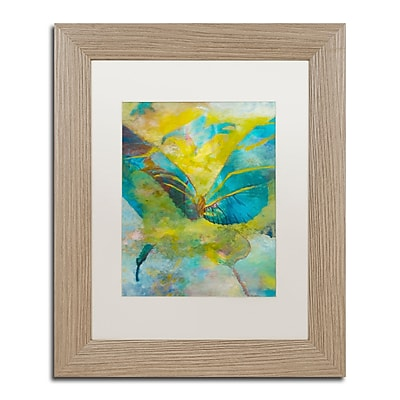 "Trademark Fine Art ''Butterflight'' by Rickey Lewis 11"" x 14"" White Matted Wood Frame (RL003-T1114MF)"