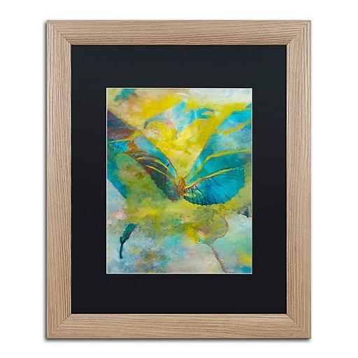 "Trademark Fine Art ''Butterflight'' by Rickey Lewis 16"" x 20"" Black Matted Wood Frame (RL003-T1620BMF)"