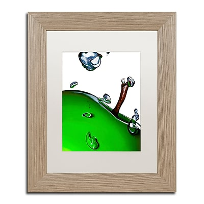 "Trademark Fine Art ''Granny Splash II'' by Roderick Stevens 11"" x 14"" White Matted Wood Frame (RS020-T1114MF)"