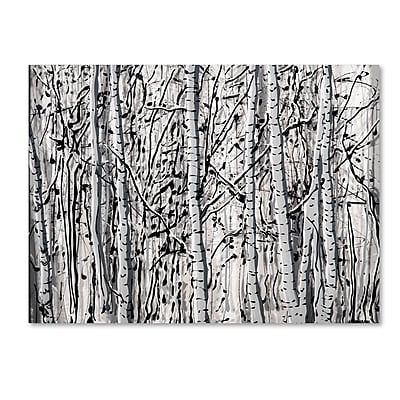Trademark Fine Art ''Winter Aspens'' by Roderick Stevens 35