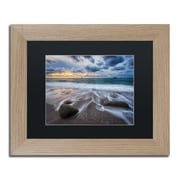 "Trademark Fine Art ''The Song of Water'' by Mathieu Rivrin 11"" x 14"" Black Matted Wood Frame (RV0013-T1114BMF)"