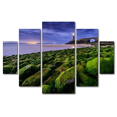 Trademark Fine Art ''Full Moon in Brittany'' by Mathieu Rivrin 3.3' x 4.8' Multi Panel Art Set (RV0026-P5-SET)