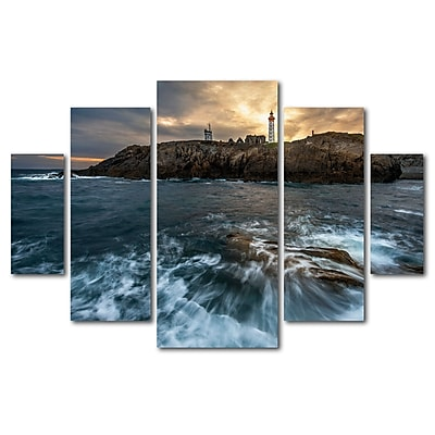Trademark Fine Art ''The Lighthouse'' by Mathieu Rivrin 3.3' x 4.8' Multi Panel Art Set (RV0029-P5-SET)