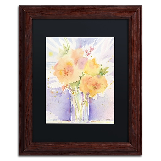 "Trademark Fine Art ''Purple Vase Reflection'' by Sheila Golden 11"" x 14"" Black Matted Wood Frame (SG5730-W1114BMF)"