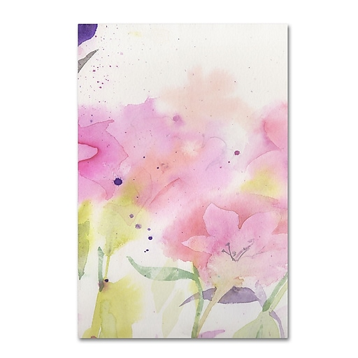 "Trademark Fine Art ''Garden Pink Impressions'' by Sheila Golden 16"" x 24"" Canvas Art (SG5733B-C1624GG)"