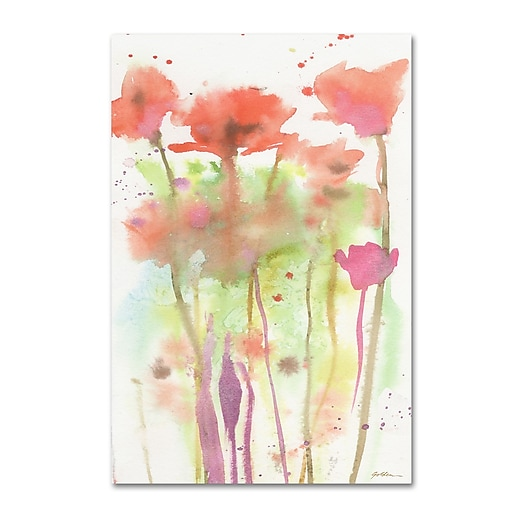 "Trademark Fine Art ''Red Poppy Impressions'' by Sheila Golden 30"" x 47"" Canvas Art (SG5735-C3047GG)"