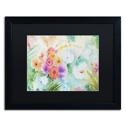 "Trademark Fine Art ''Napa Garden'' by Sheila Golden 16"" x 20"" Black Matted Black Frame (SG5736-B1620BMF)"