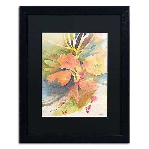"Trademark Fine Art ''Sunlight Blossoming'' by Sheila Golden 16"" x 20"" Black Matted Black Frame (SG5737-B1620BMF)"