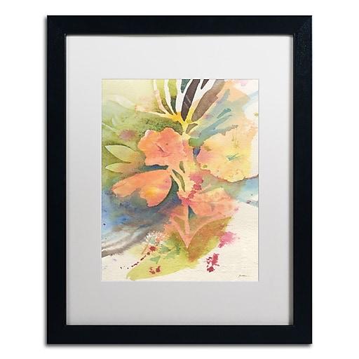 "Trademark Fine Art ''Sunlight Blossoming'' by Sheila Golden 16"" x 20"" White Matted Black Frame (SG5737-B1620MF)"