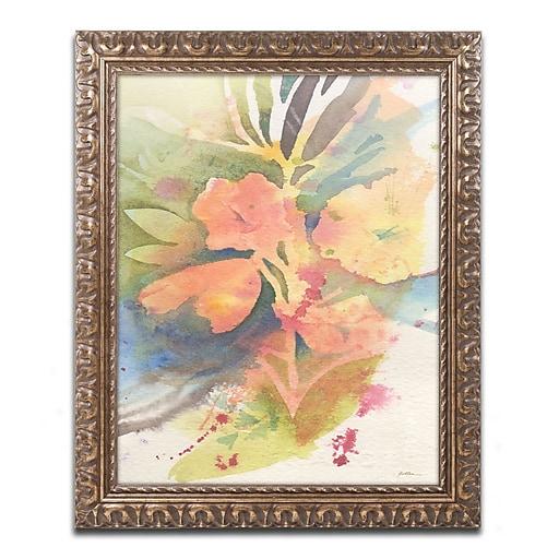 "Trademark Fine Art ''Sunlight Blossoming'' by Sheila Golden 16"" x 20"" Ornate Frame (SG5737-G1620F)"