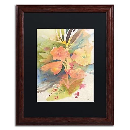 "Trademark Fine Art ''Sunlight Blossoming'' by Sheila Golden 16"" x 20"" Black Matted Wood Frame (SG5737-W1620BMF)"